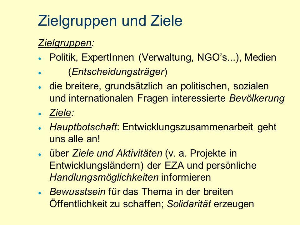 EZA - Interview mit S. Krings/Trimedia Öffentlichkeitsarbeit für die österr. Entwicklungs- zusammenarbeit (ÖEZA) bereits seit 1995 seit 2000 eine neue
