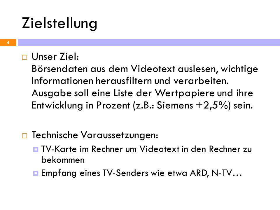 Zielstellung 5 423 ARD/ZDF So 07.11.99 16:15:49 Frankfurter Börse 1/5 Deutsche Aktien 05.11.99 18:22:00 Kassa Vortag AAA.........