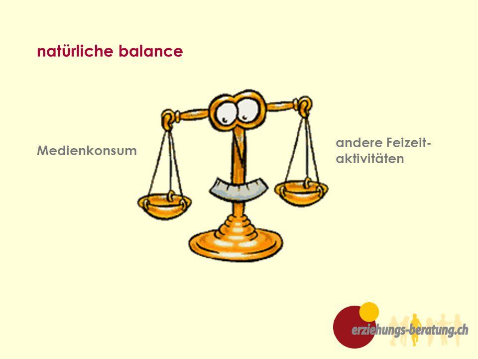 natürliche balance Medienkonsum andere Feizeit- aktivitäten