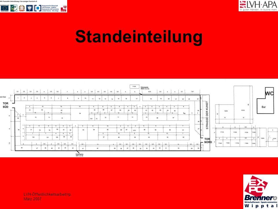 LVH-Öffentlichkeitsarbeit/rp März 2007 Standeinteilung
