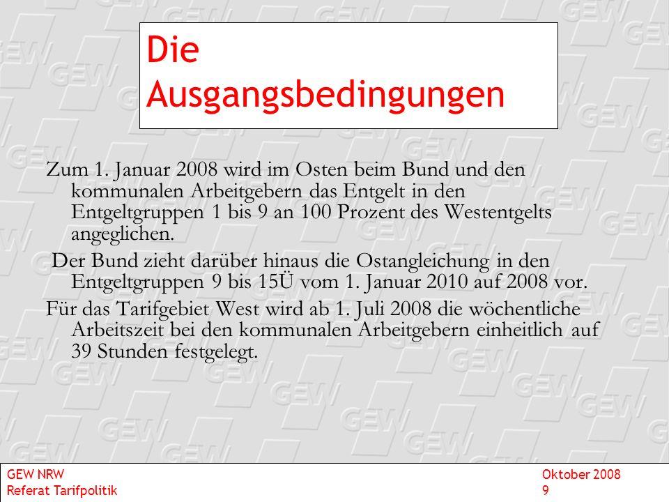 Chronologie der politischen Ereignisse - Besoldung 1971 2006 Vereinheitlichung der Bundesbesoldung Föderalismusreform GEW NRWOktober 2008 Referat Tarifpolitik10