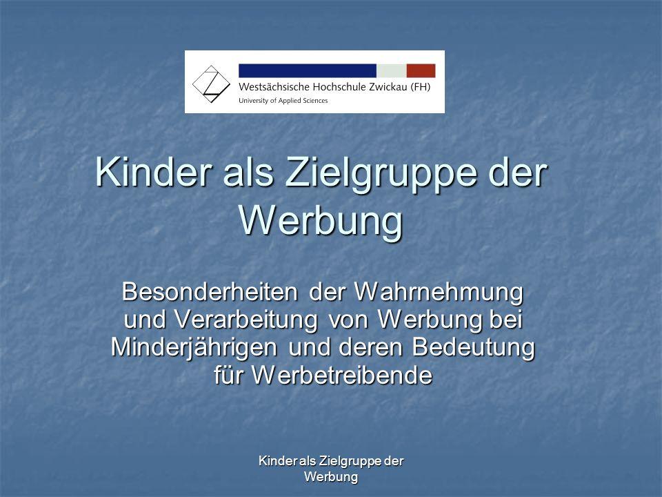 Kinder als Zielgruppe der Werbung Die wirtschaftliche Bedeutung von Kindern als Konsumenten 1,44 Mrd.