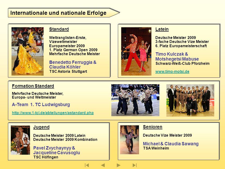 Standard Weltranglisten-Erste, Vizeweltmeister Europameister 2009 1.