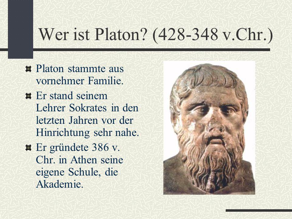 Die Philosophie des Sokrates Typisch ist das Gespräch: Sokrates stellte sich unwissend und überführte durch Fragen den Wissenden der Unwissenheit, dab