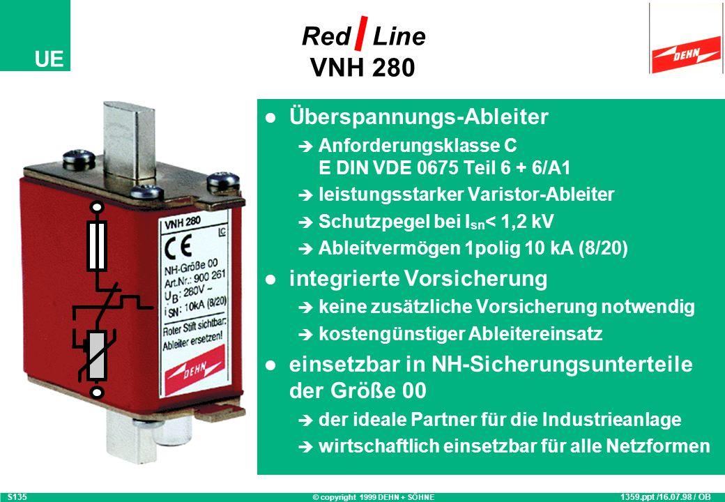 © copyright 1999 DEHN + SÖHNE UE DEHNguard ® 275 im TN-S-System 1902.ppt / 20.07.99 / CG S1902