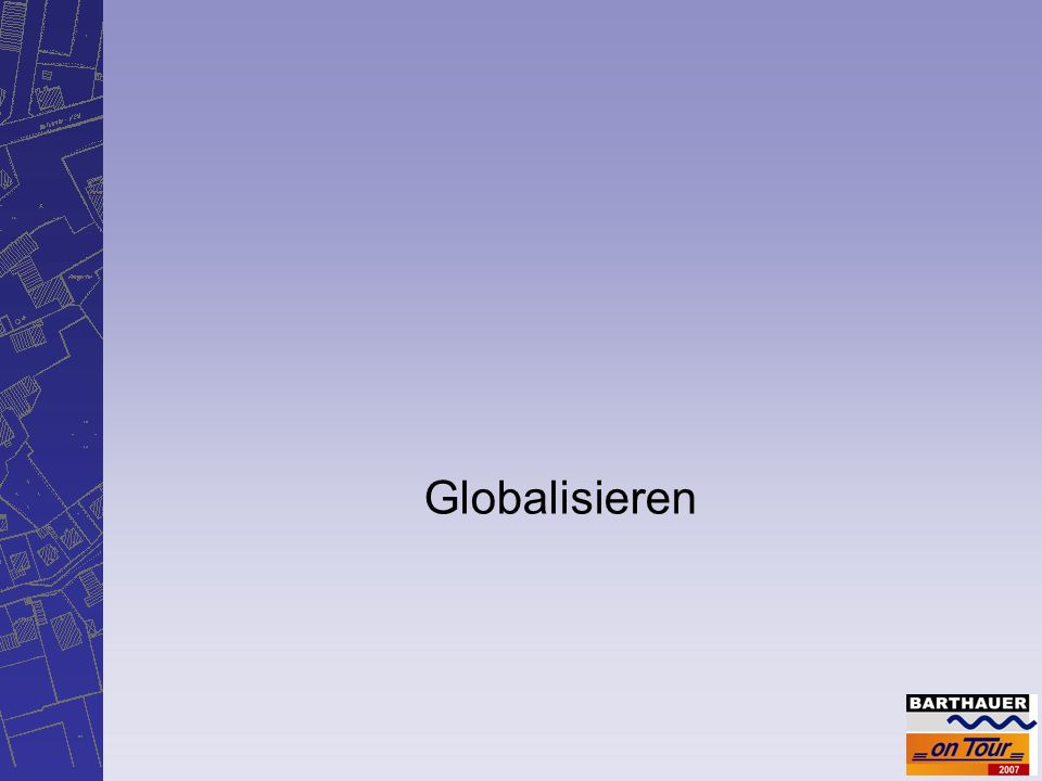 Barthauer Software GmbH 2007 Globalisieren Eckdaten der DIN EN 13508-2 Einheitliches Kodiersystem für Zustandserfassung Normativ für Abwasserleitungen/-kanäle, Schächte, Inspektionsöffnungen, weitere Objekte mit ähnlicher Funktion, keine Bauwerke Anzuwenden bei öffentliche und private Entwässerungs- systeme Arbeitsbereiche: Festlegung Ist-Zustand… Sprachenunabhängig Kodes sind nach Anforderungen des Auftraggebers anzuwenden