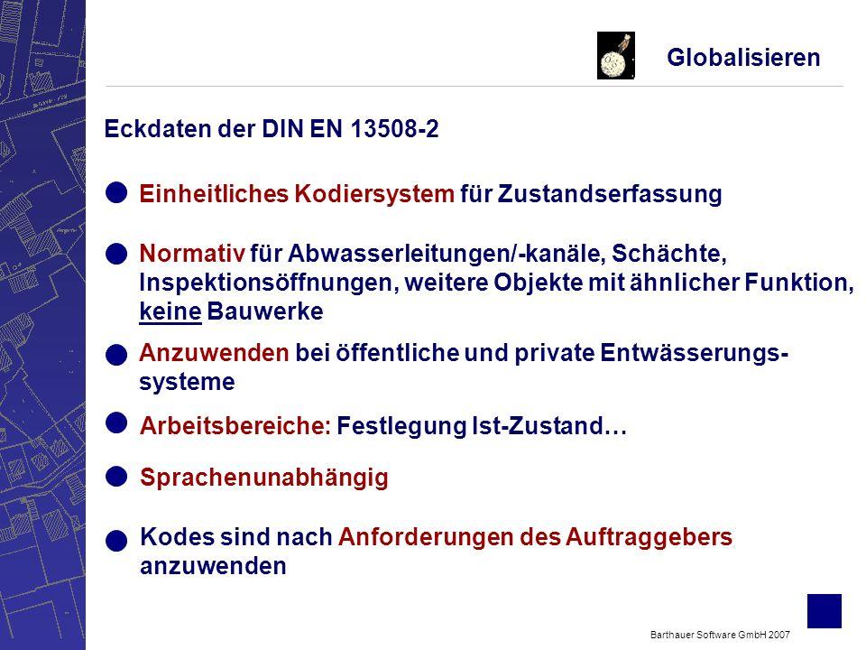Barthauer Software GmbH 2007 Ignorieren DIN EN13508-2: Erhöhung der Akzeptanz Quelle: E-Mail Befragung an 100 TV-Inspekteuren - Rücklauf 22: April 2007
