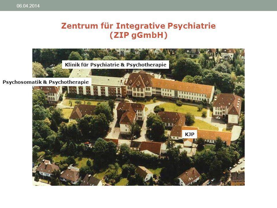 Zentrum für Integrative Psychiatrie (ZIP gGmbH) Psychosomatik & Psychotherapie KJP Klinik für Psychiatrie & Psychotherapie