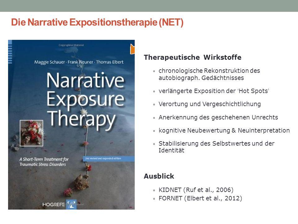 Therapeutische Wirkstoffe chronologische Rekonstruktion des autobiograph. Gedächtnisses verlängerte Exposition der Hot Spots Verortung und Vergeschich