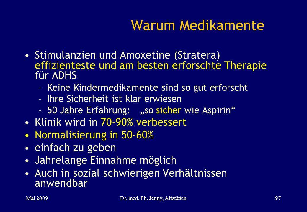 Warum Medikamente Stimulanzien und Amoxetine (Stratera) effizienteste und am besten erforschte Therapie für ADHS –Keine Kindermedikamente sind so gut