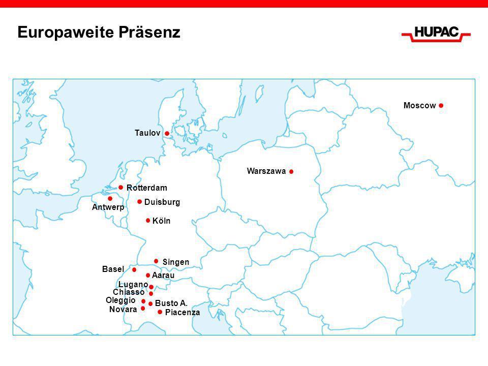 Unbegleiteter Kombinierter Verkehr Shuttle Net Das Shuttle Net der Hupac verbindet die wichtigsten Wirtschaftsräume Europas mit täglich verkehrenden Shuttlezügen: Beförderung von Containern, Sattelaufliegern und Wechselbehältern Transporte von Terminal zu Terminal bzw.