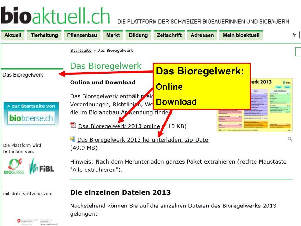 Das Bioregelwerk: Online Download