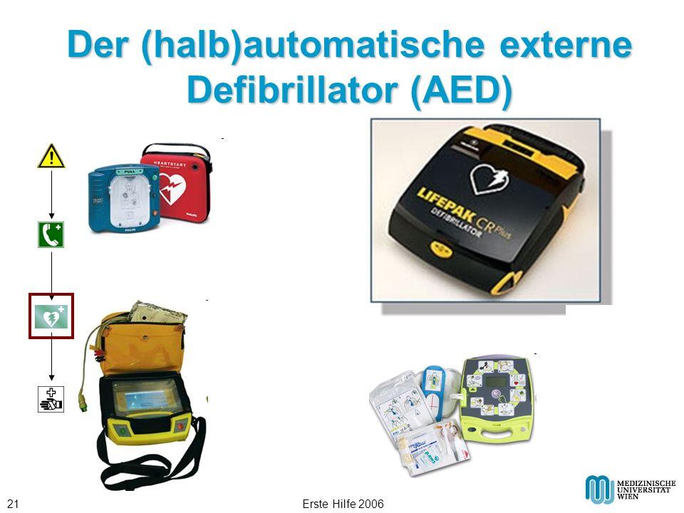 Erste Hilfe 200621 Der (halb)automatische externe Defibrillator (AED)