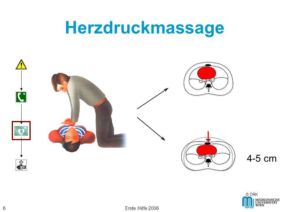 Erste Hilfe 20066 Herzdruckmassage © ÖRK 4-5 cm