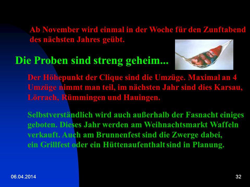 06.04.201431 Seit 1978 gibt es die Zwerge – Clique. Gegründet wurde sie von Zwergenmama Lili unter dem Namen Zwergli-Rümmingen. Seit 2001 gibt es eine