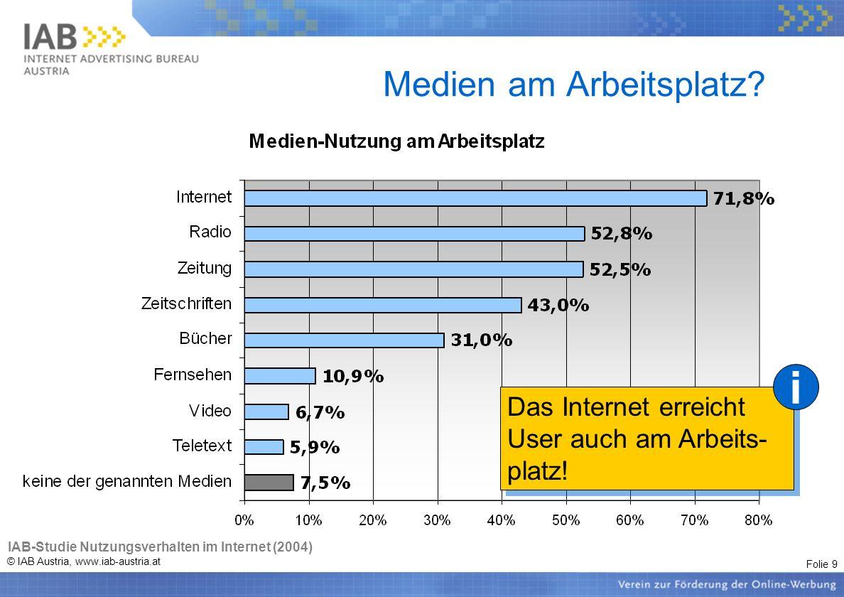 Folie 20 © IAB Austria, www.iab-austria.at Integral (AIM), IAB Schritt 1: Auswahl der zu betrachtenden Zielgruppe