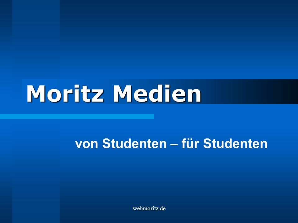 webmoritz.de Moritz Medien von Studenten – für Studenten
