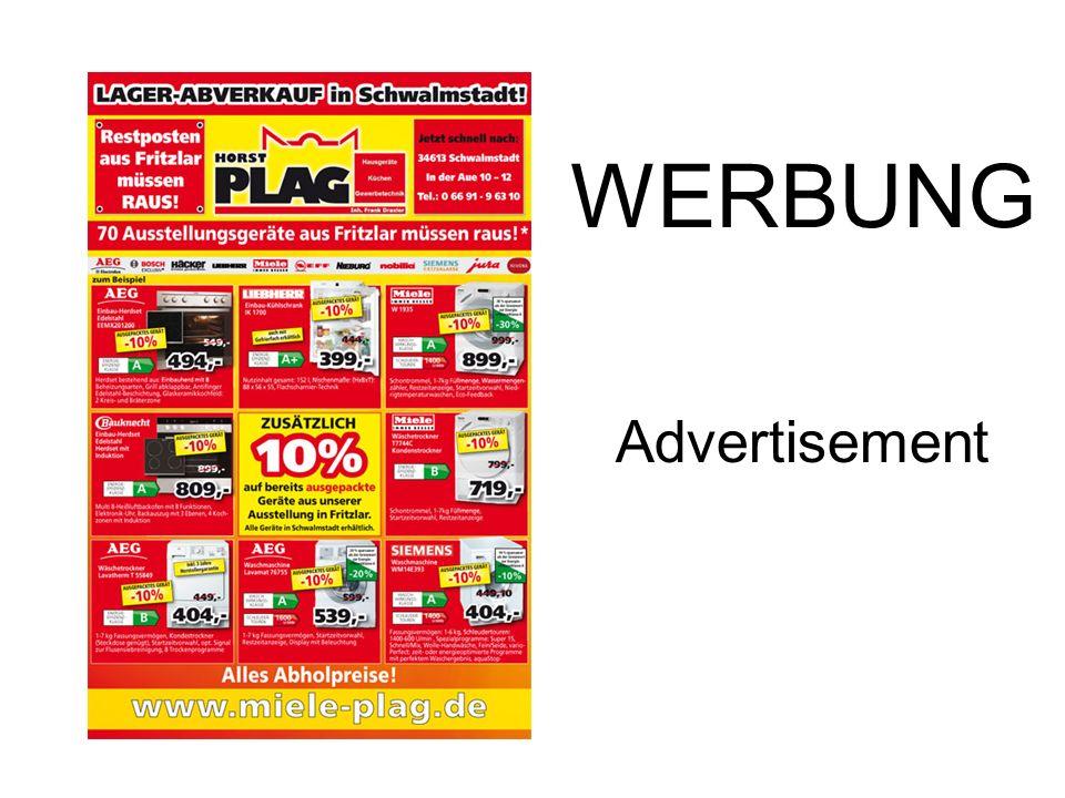 WERBUNG Advertisement