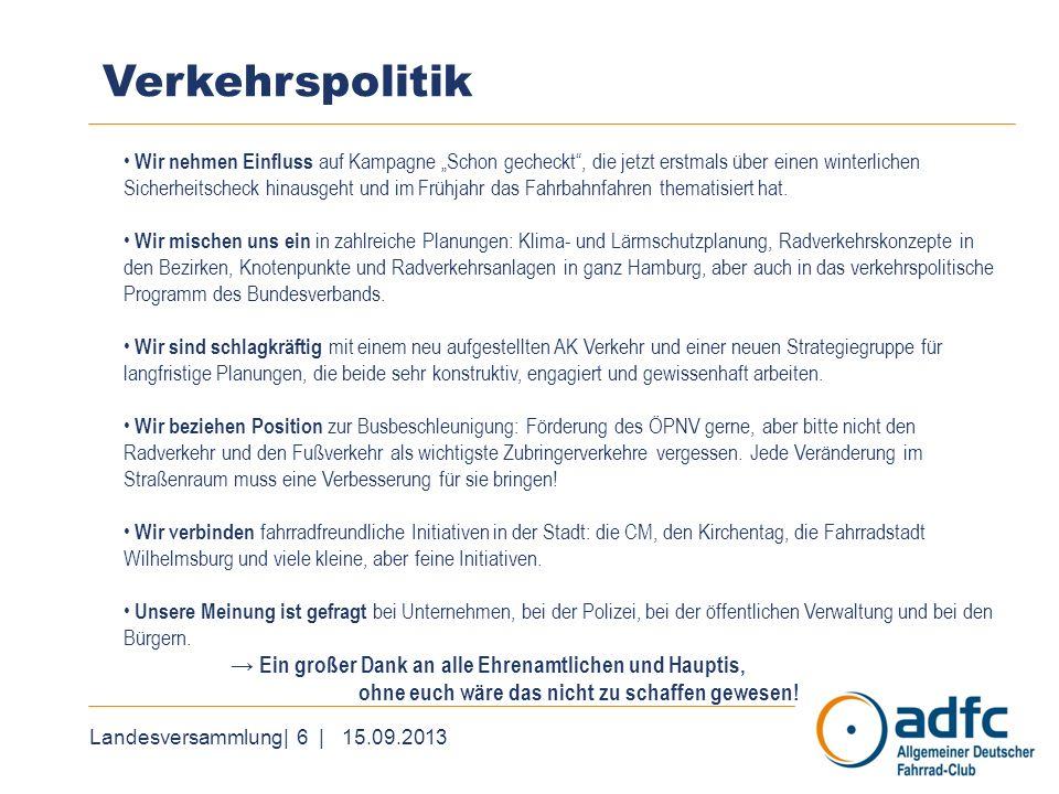 Landesversammlung| 7 | 15.09.2013 Projekte und Kooperationen