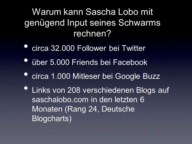außerdem: Sascha Lobos Identitäten in sozialen Netzwerken (einige verwaist)