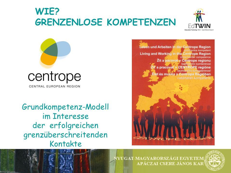 WIE? GRENZENLOSE KOMPETENZEN Grundkompetenz-Modell im Interesse der erfolgreichen grenzüberschreitenden Kontakte