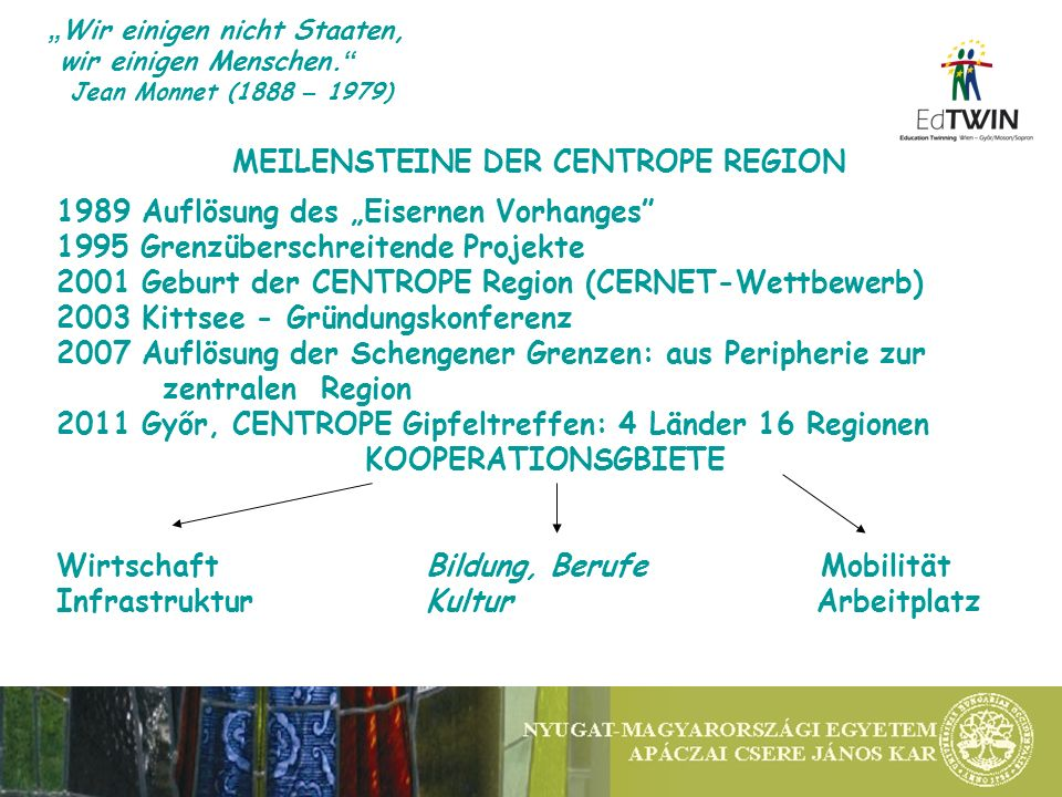 Meine Sprache verstehet man durch die ganze Welt Joseph Haydn CentroLING Was sicherte das EdTWIN Projekt.