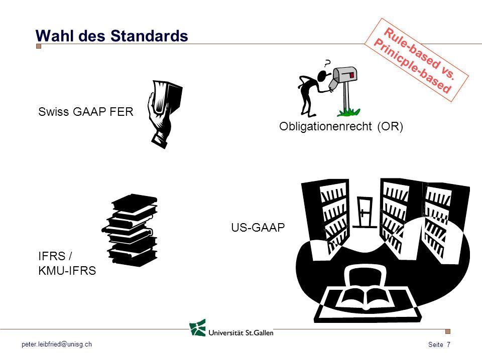 Seite 8 peter.leibfried@unisg.ch Wahl des Standards Tausch = Umsatz .