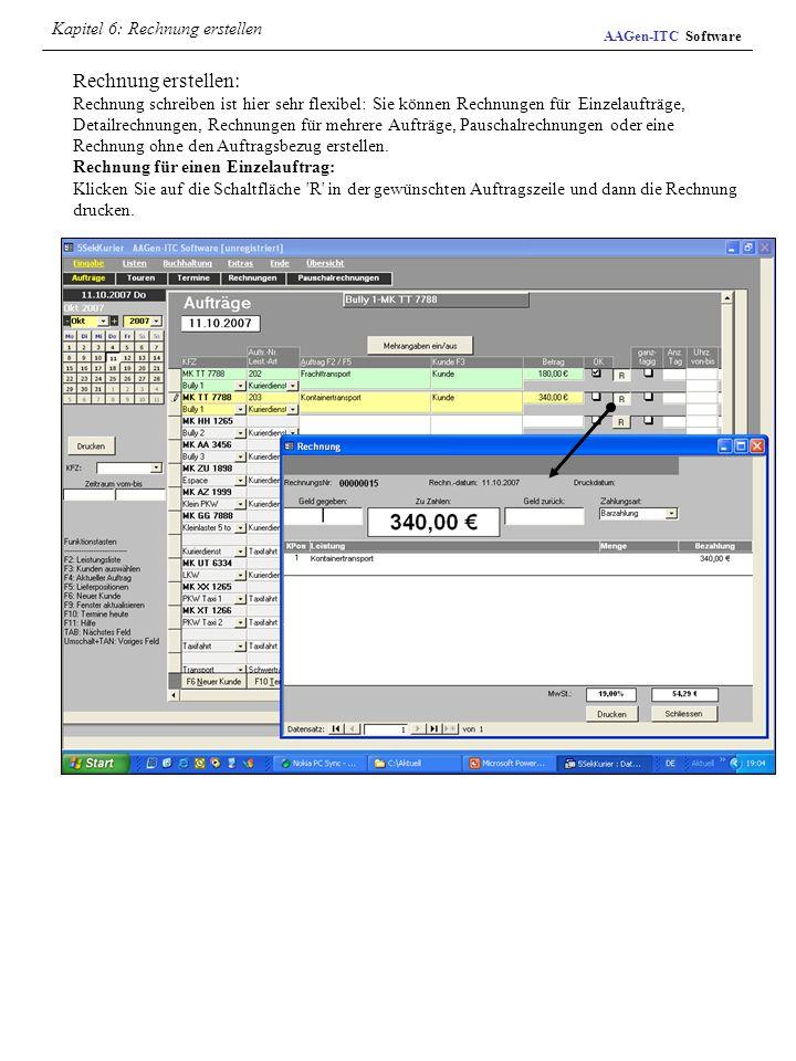 Rechnung erstellen: Rechnung schreiben ist hier sehr flexibel: Sie können Rechnungen für Einzelaufträge, Detailrechnungen, Rechnungen für mehrere Auft