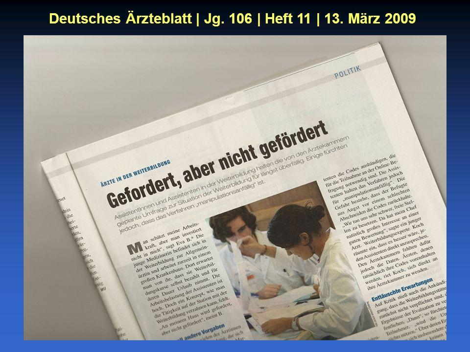 Deutsches Ärzteblatt | Jg. 106 | Heft 11 | 13. März 2009