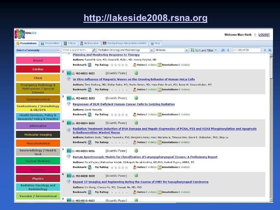 http://lakeside2008.rsna.org