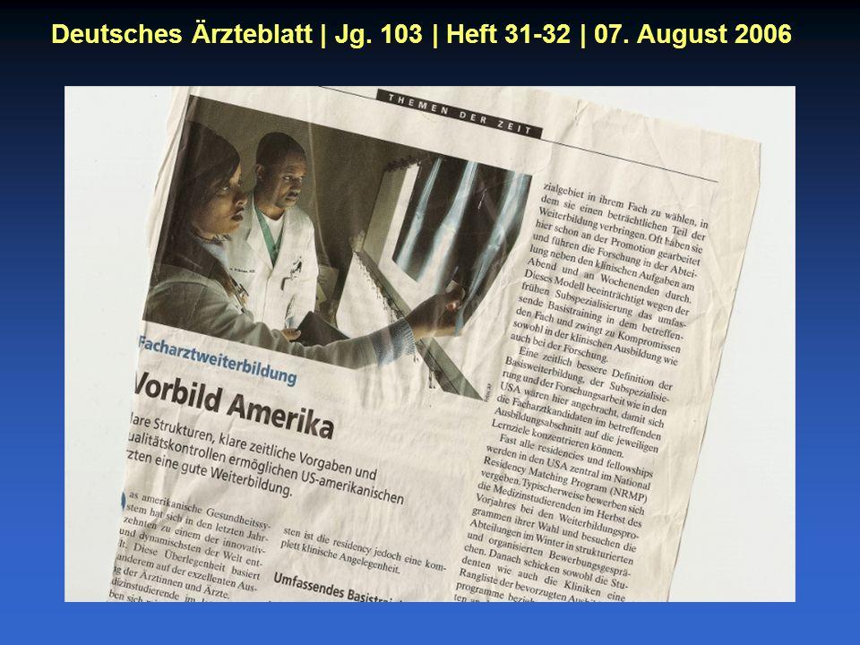 Deutsches Ärzteblatt | Jg. 103 | Heft 31-32 | 07. August 2006