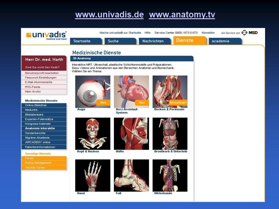www.univadis.dewww.univadis.de www.anatomy.tvwww.anatomy.tv