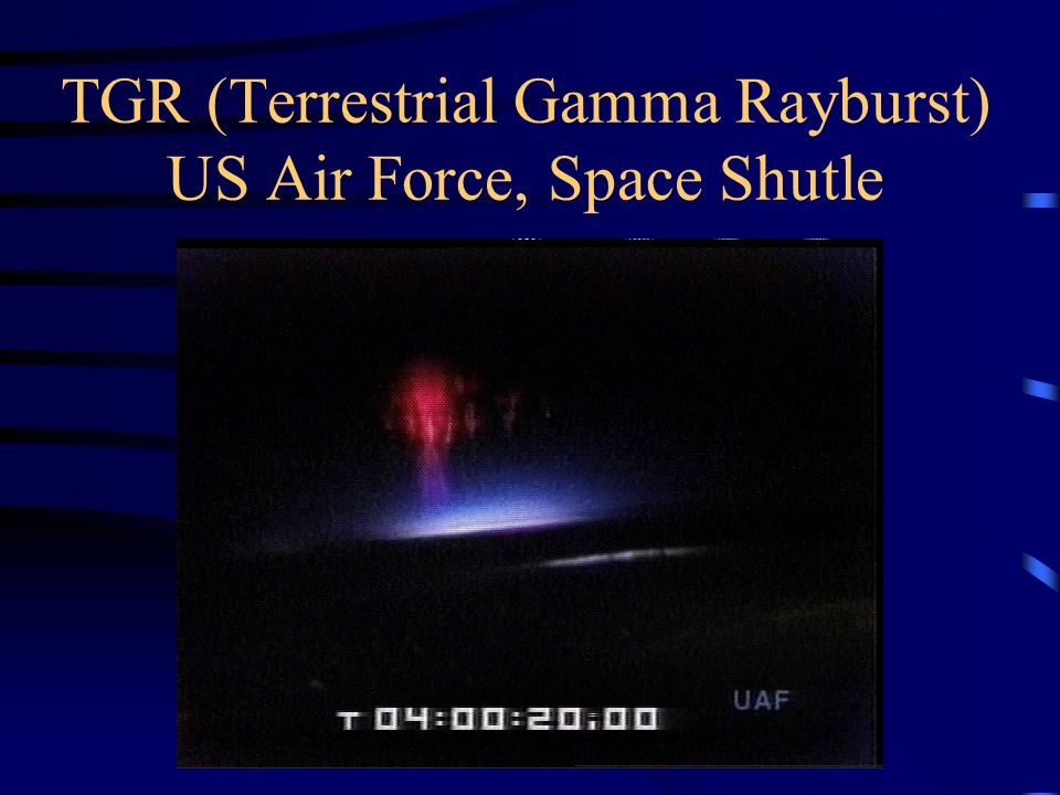TGR (Terrestrial Gamma Rayburst) US Air Force, Space Shutle
