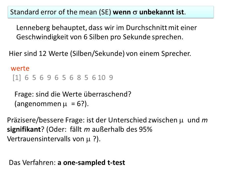 Kriteria für eine t-test Durchführung zwei Stichproben, x und y.