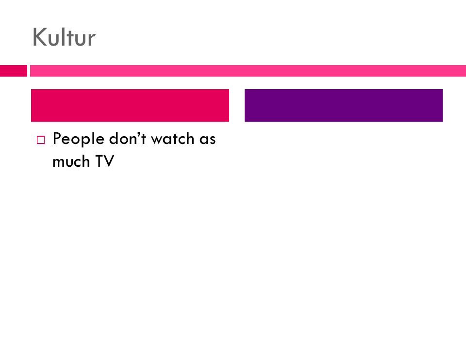 Kultur People dont watch as much TV