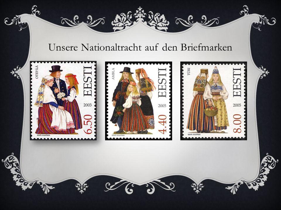 Unsere Nationaltracht auf den Briefmarken