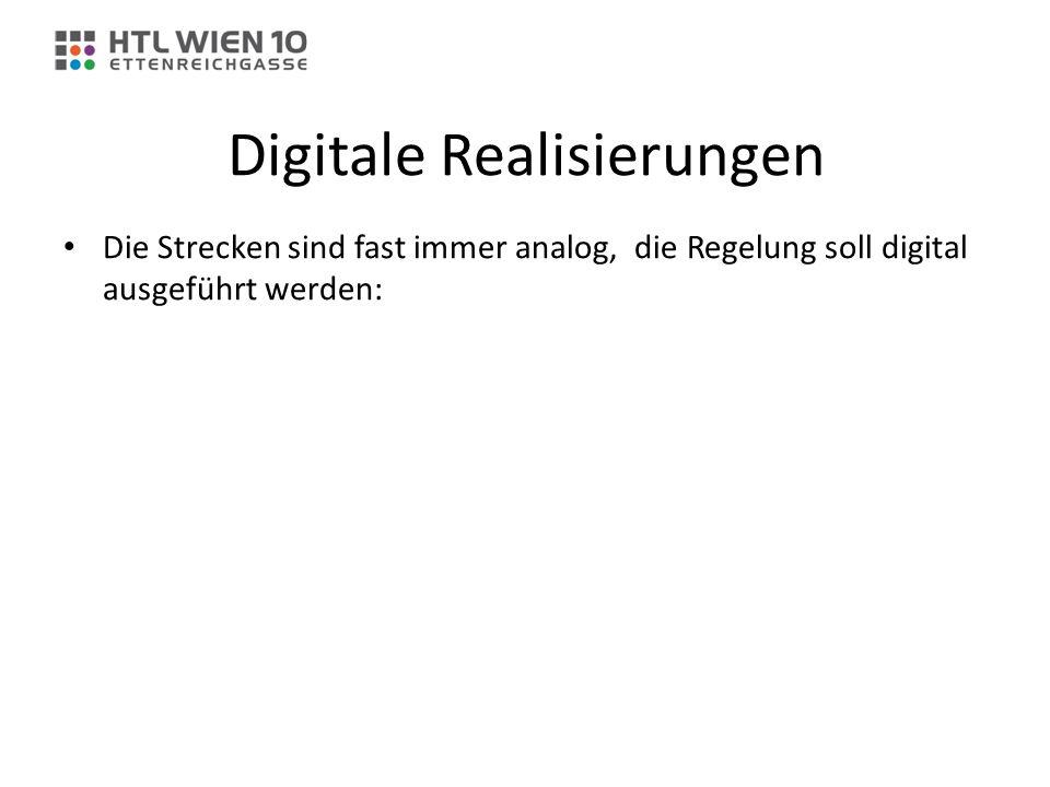 Digitale Realisierungen Die Strecken sind fast immer analog, die Regelung soll digital ausgeführt werden: