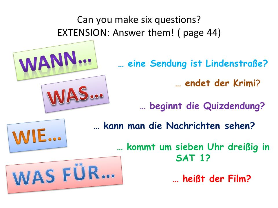 Schreiben.Write a few sentences about the kind of programmes you do and dont like.