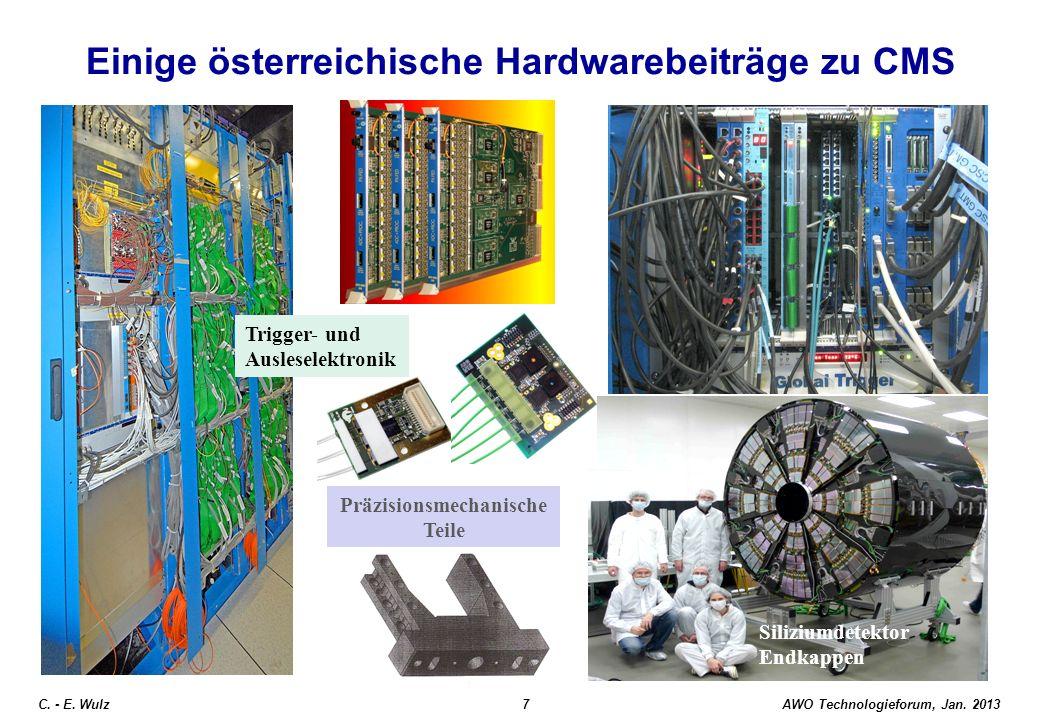 AWO Technologieforum, Jan. 2013 C. - E. Wulz28 CERN User (Sep. 2012)