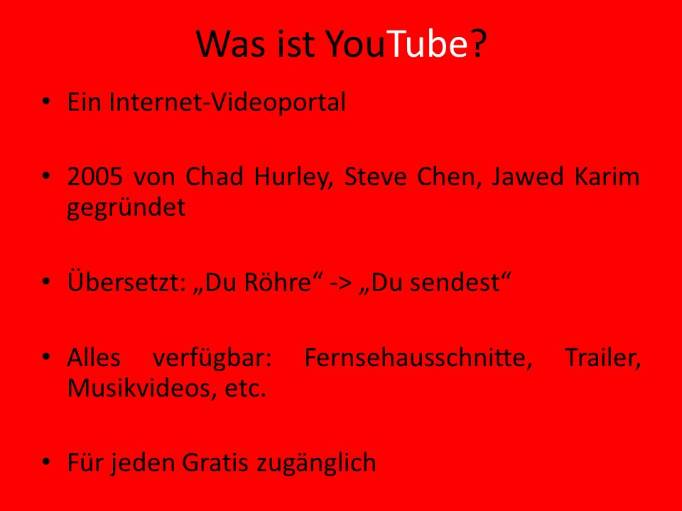 Was ist YouTube.