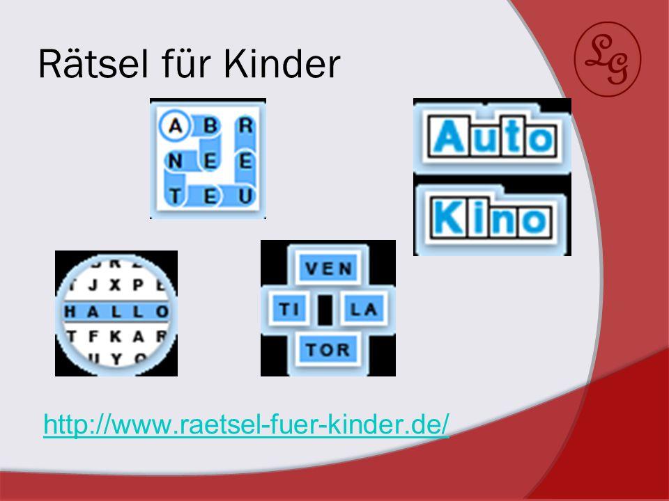 Rätsel für Kinder http://www.raetsel-fuer-kinder.de/