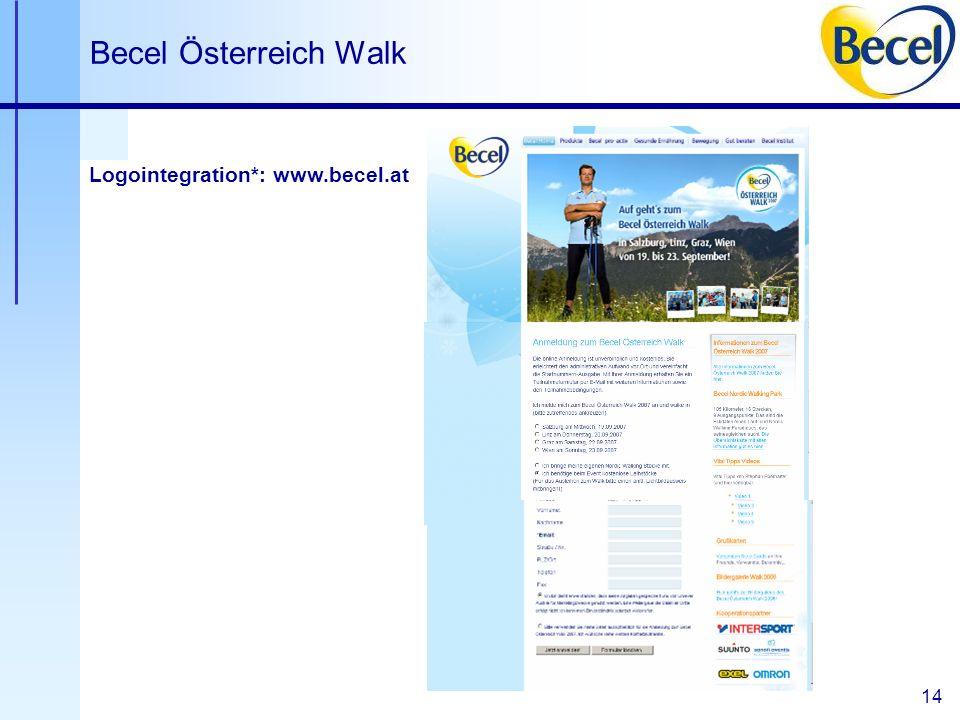14 Becel Österreich Walk Logointegration*: www.becel.at