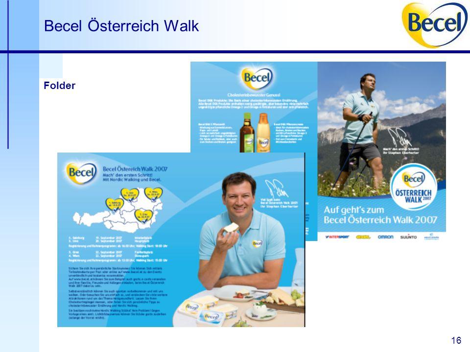 16 Becel Österreich Walk Folder
