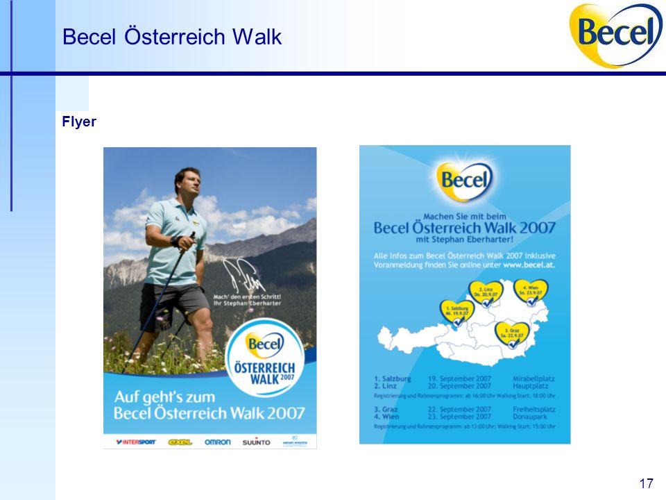 17 Becel Österreich Walk Flyer