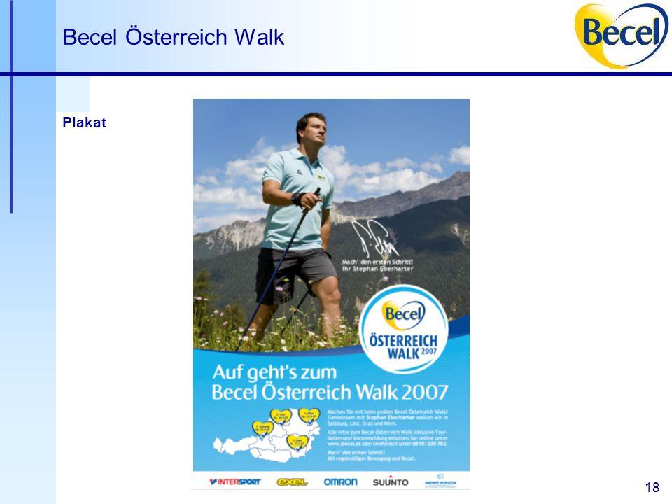 18 Becel Österreich Walk Plakat