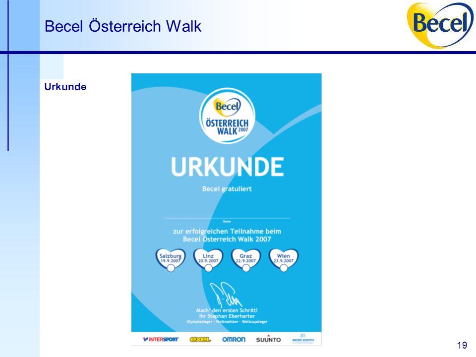 19 Becel Österreich Walk Urkunde