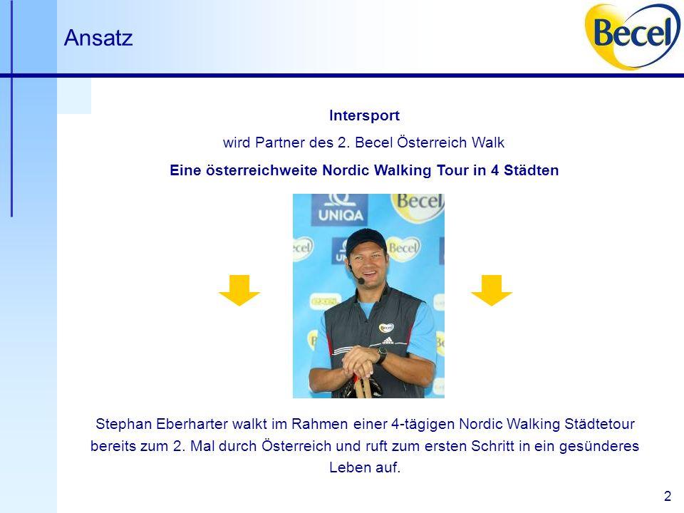 2 Ansatz Stephan Eberharter walkt im Rahmen einer 4-tägigen Nordic Walking Städtetour bereits zum 2.