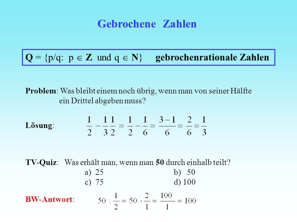Noch mehr Zahlen? Pythagoras a 2 + b 2 = c 2 a c b d 2 = 1 2 + 1 2 = 2 1 d 1 Beispiel: