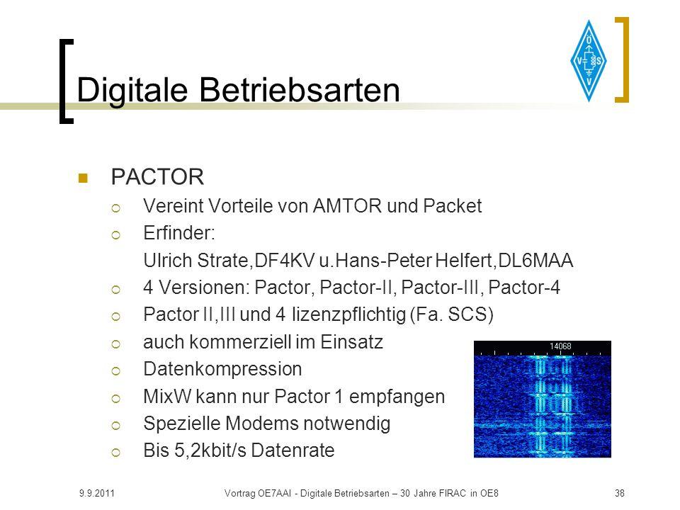 9.9.2011Vortrag OE7AAI - Digitale Betriebsarten – 30 Jahre FIRAC in OE837 Digitale Betriebsarten AMTOR (Amateur Teletype over Radio) Von SITOR (Simple