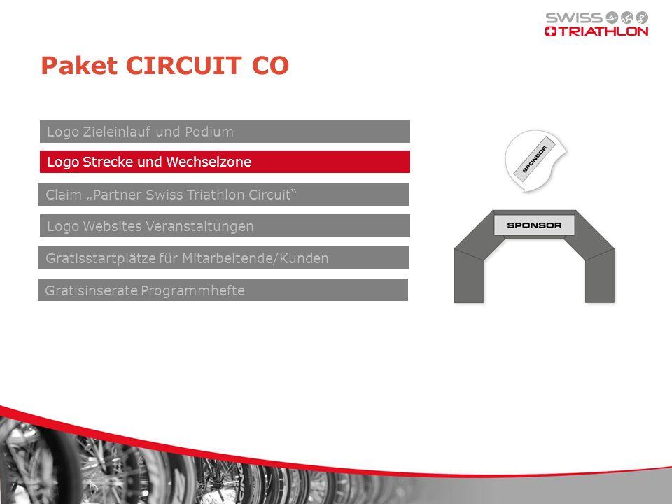 Paket CIRCUIT CO Claim Partner Swiss Triathlon Circuit Logo Zieleinlauf und Podium Logo Websites Veranstaltungen Gratisstartplätze für Mitarbeitende/Kunden Gratisinserate Programmhefte Logo Strecke und Wechselzone